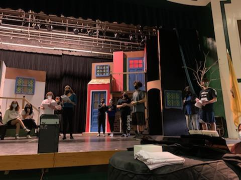 Mama Mia! rehearsal; photo credit: Ms. Shue